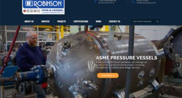 Robinson Pipe & Vessel Launches a New Website